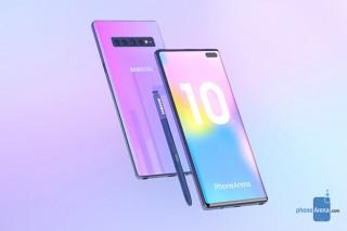Galaxy Note 10 siêu đẹp xuất hiện, thách thức iPhone 11