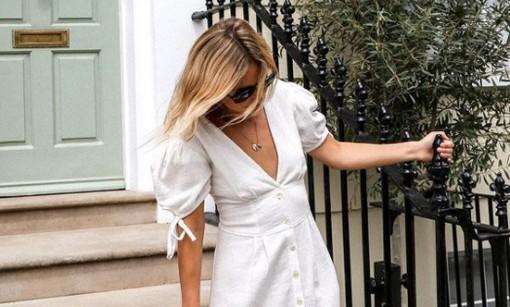 Mẫu váy trắng lý tưởng khi du lịch