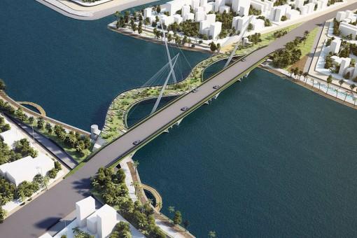 Cầu Nguyễn Thái Học - công trình tạo điểm nhấn cho TP. Long Xuyên
