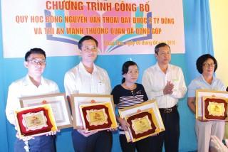Tự hào quỹ Học bổng Nguyễn Văn Thoại
