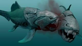 Quái vật cổ đại nhai sống cá mập