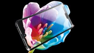 Sharp Aquos R3 có màn hình gồm cả giọt nước và tai thỏ
