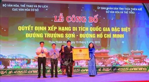 Đường Trường Sơn - Đường Hồ Chí Minh là Di tích Quốc gia đặc biệt