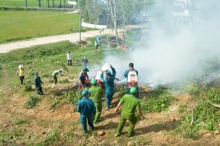 Tịnh Biên diễn tập chữa cháy rừng