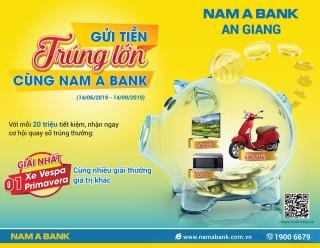 Gửi tiền Nam A Bank An Giang, trúng xe Vespa sành điệu