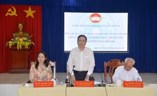 Ủy ban Trung ương MTTQ Việt Nam tiếp xúc,  đối thoại cùng tín đồ Phật giáo Hòa Hảo