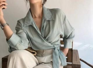 Những kiểu áo blouse thắt eo cho nàng công sở