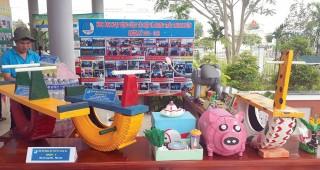 Phú Tân: Ngày hội sáng tạo sản phẩm từ nguyên liệu tái chế
