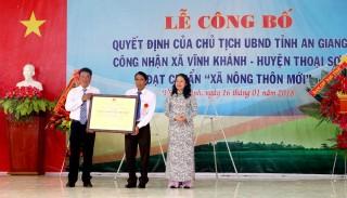 Thủ tướng Chính Phủ công nhận huyện Thoại Sơn đạt chuẩn nông thôn mới năm 2018