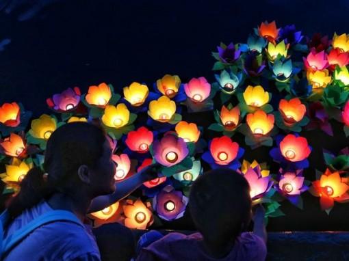Hàng ngàn chiếc hoa đăng thắp sáng rực rỡ sông Sài Gòn đêm Vu Lan