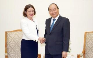 Thủ tướng tiếp Đại sứ Australia tại Việt Nam Robyn Mudie