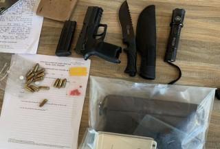 """Nam thanh niên đi xế hộp tàng trữ ma túy, """"thủ"""" 1 khẩu súng ngắn và 14 viên đạn"""