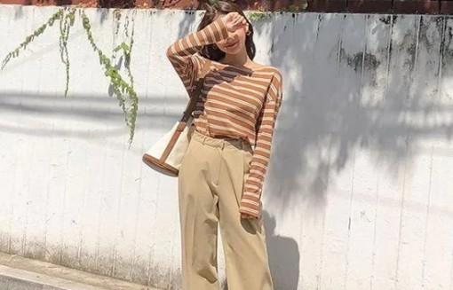 Phối quần ống suông cho trang phục mùa thu