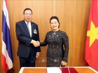 Chủ tịch Quốc hội Nguyễn Thị Kim Ngân hội kiến Chủ tịch Thượng viện Vương quốc Thái Lan