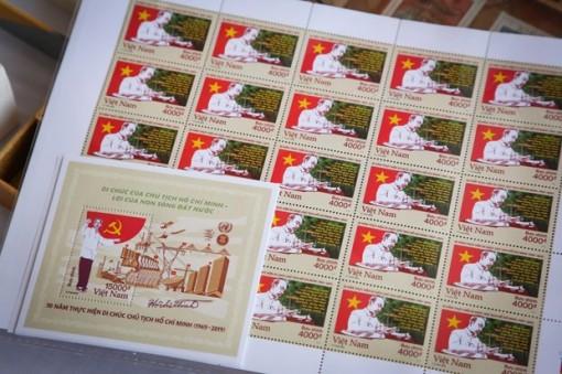 Phát hành bộ tem đặc biệt kỷ niệm 50 năm thực hiện Di chúc Hồ Chủ tịch