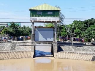 Phú Tân xả lũ 50% diện tích sản xuất, để vệ sinh đồng ruộng