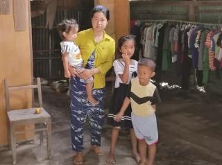 Người phụ nữ Khmer một mình nuôi 3 con nhỏ