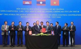 Việt Nam-Lào-Campuchia thông qua Tuyên bố chung, quyết tâm đẩy lùi ma tuý khỏi khu vực