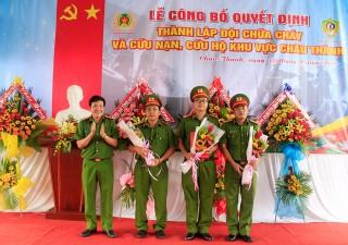 Thành lập Đội Cảnh sát CC và CNCH khu vực Châu Thành