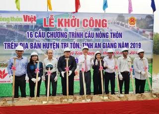 Gần 19 tỷ đồng xây dựng 16 cầu nông thôn ở Tri Tôn