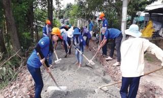 Tuổi trẻ Châu Thành góp sức xây dựng quê hương