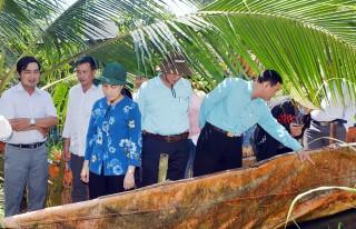 Bí thư Huyện ủy Châu Thành khảo sát các mô hình sản xuất nông nghiệp