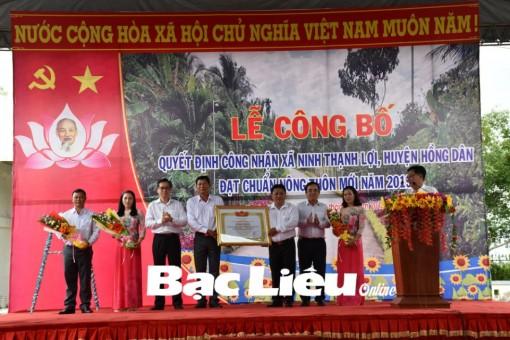 Bạc Liêu: Xã Ninh Thạnh Lợi đạt chuẩn nông thôn mới