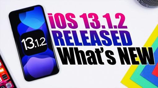 Apple phát hành iOS 13.1.2, khắc phục sự cố Camera, iCloud và một số lỗi nhỏ khác