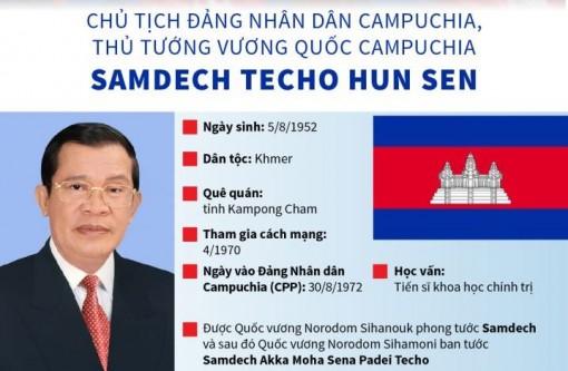 Thủ tướng Campuchia Samdech Techo Hun Sen thăm chính thức Việt Nam