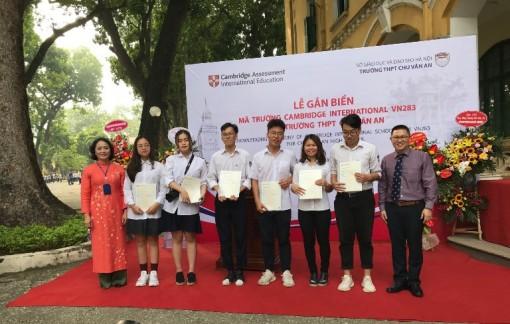 Trường THPT Chu Văn An trở thành thành viên của tổ chức Cambridge