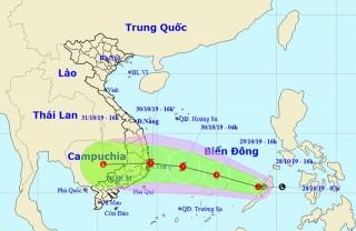 Áp thấp nhiệt đới trên Biển Đông, Trung Bộ, Tây Nguyên mưa lớn
