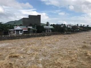 Xuất hiện đợt lũ trên các sông từ Quảng Nam đến Ninh Thuận từ đêm nay
