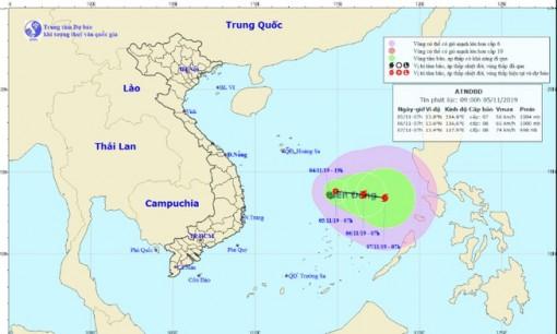 Áp thấp nhiệt đới đang mạnh lên thành bão số 6