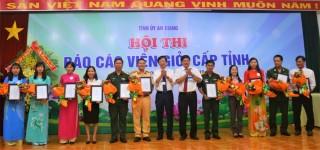 Báo cáo viên Nguyễn Phú Khương đạt giải nhất Hội thi báo cáo viên giỏi cấp tỉnh năm 2019