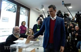 Kết quả sơ bộ tổng tuyển cử Tây Ban Nha: Đảng Xã hội đang dẫn đầu
