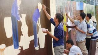 Thêm 17 bức họa làm đẹp thị trấn Tri Tôn