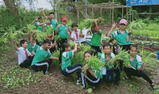 """""""Vườn rau sạch - gây quỹ giúp bạn học nghèo"""""""