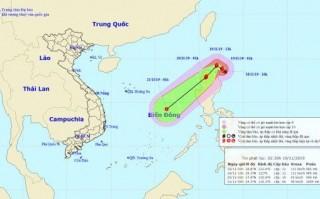 Bão Kalmaegi tiến vào Biển Đông, vùng nguy hiểm gió giật từ cấp 8