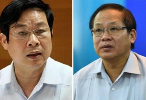 Hai ông Nguyễn Bắc Son và Trương Minh Tuấn hầu toà ngày 16-12