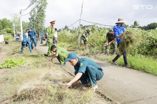 Tuổi trẻ Sóc Trăng chung sức xây dựng nông thôn mới