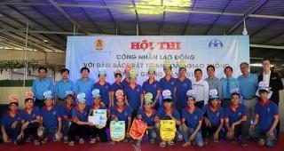Hội thi công nhân với kiến thức an toàn giao thông tại huyện Phú Tân