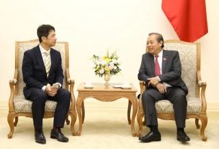 Phó Thủ tướng Thường trực Chính phủ tiếp Thống đốc tỉnh Ibaraki (Nhật Bản)