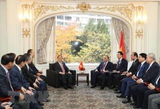 Thủ tướng Nguyễn Xuân Phúc tiếp Chủ tịch Hội Hữu nghị Hàn-Việt