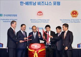 Thủ tướng Nguyễn Xuân Phúc dự Diễn đàn Doanh nghiệp Việt Nam - Hàn Quốc
