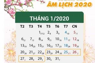 Tết Nguyên đán Canh Tý 2020, cán bộ, công chức, viên chức được nghỉ 7 ngày