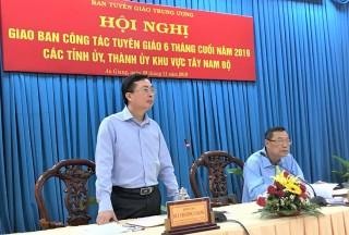 Giao ban công tác tuyên giáo cụm Tây Nam Bộ 6 tháng cuối năm 2019 
