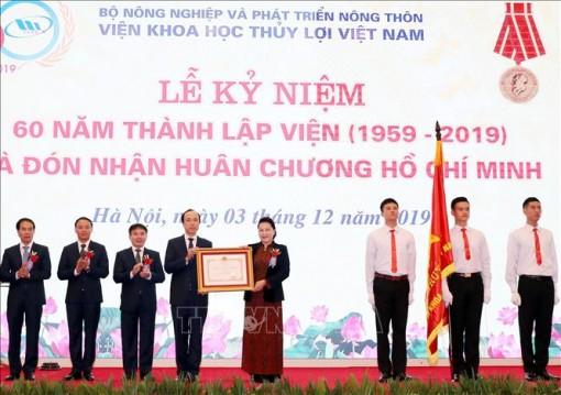 Chủ tịch Quốc hội dự Lễ kỷ niệm 60 năm thành lập Viện Khoa học thủy lợi Việt Nam