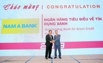 """Nam Á Bank nhận giải thưởng """"Ngân hàng tiêu biểu về Tín dụng xanh"""" năm 2019"""