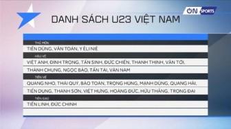 Thầy Park công bố danh sách cầu thủ tham dự VCK U23 Châu Á