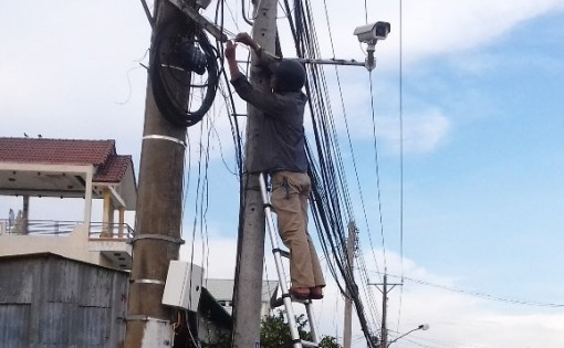 Năm 2020, huyện Phú Tân lắp đặt 210 camera an ninh